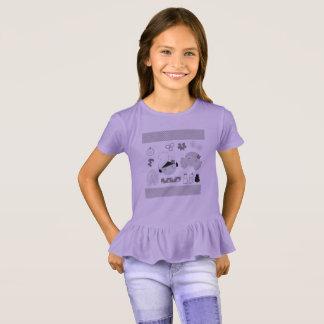 化粧品が付いているTシャツをからかいます: ラベンダー Tシャツ