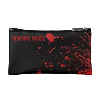 化粧品のバッグの中の血の恐怖タンポンのtampax コスメティックバッグ