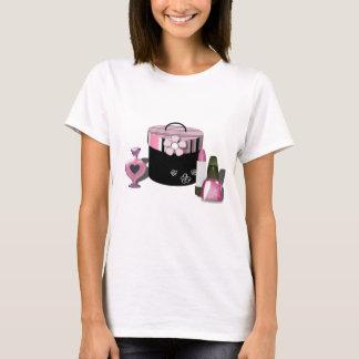 化粧品の女の子を構成して下さい Tシャツ