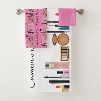化粧品はかわいらしいピンクが構成する生命です バスタオルセット