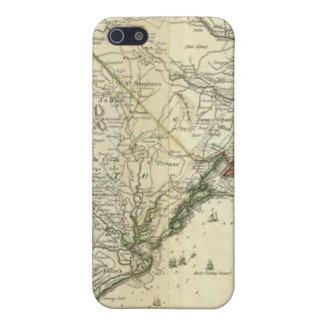 北およびサウスカロライナの地図 iPhone SE/5/5sケース