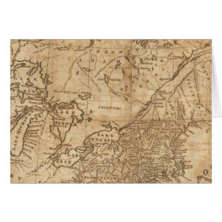 北および中間の州2の地図 カード