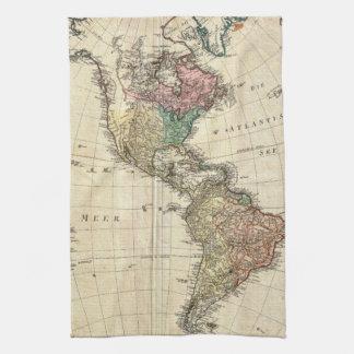 北および南アメリカの1796年のMannertの地図 キッチンタオル