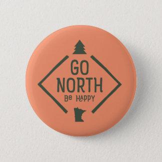 北にです幸せ-ミネソタボタンの緑は行きます 5.7CM 丸型バッジ