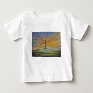 北のイギリスの乳児のTシャツの天使 ベビーTシャツ