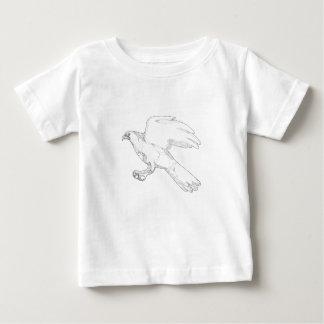 北のオオタカの急襲の落書きの芸術 ベビーTシャツ