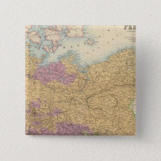 北のドイツの連合およびプロシア 5.1CM 正方形バッジ