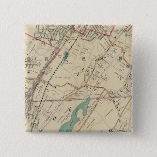 北のニューヨークシティ5 5.1CM 正方形バッジ