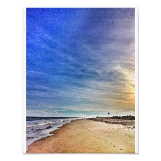 北のビーチ、Tybee フォトプリント