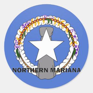 北のマリアナRoundelの質の旗 ラウンドシール