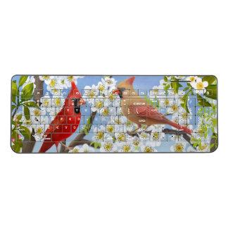 北の基本的で赤い鳥の無線電信のキーボード ワイヤレスキーボード