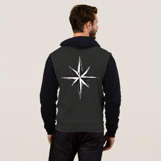北の星のフード付きスウェットシャツ パーカ