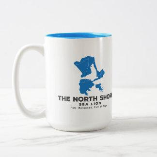 北の海岸のアシカの飲料容器 ツートーンマグカップ