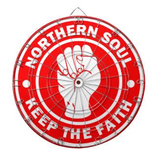 北の精神のロゴの赤 ダーツボード