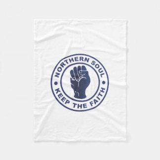 北の精神は信頼のスローガン及び握りこぶしの記号を保ちます フリースブランケット