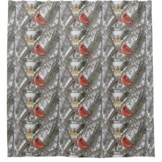 北の(鳥)ショウジョウコウカンチョウ シャワーカーテン
