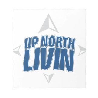 北のLivin -コンパスの上 ノートパッド