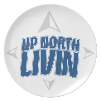 北のLivin -コンパスの上 プレート