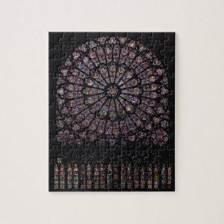 北のtranseptのバラ窓ヴァージンを描写します ジグソーパズル