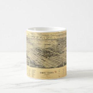 北のYakimaワシントン州(1889年)市の眺め コーヒーマグカップ