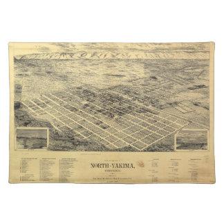 北のYakimaワシントン州(1889年)市の眺め ランチョンマット