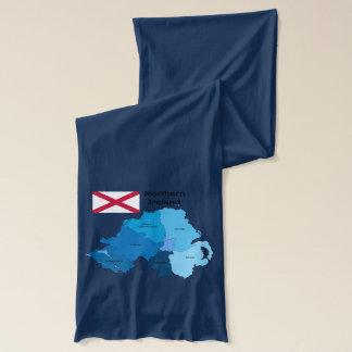 北アイルランドの旗そして地図 スカーフ