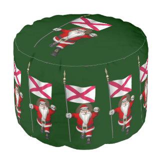 北アイルランドの旗を持つサンタクロース プーフ