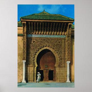 北アフリカ、Meknesのモスク、Tanger ポスター
