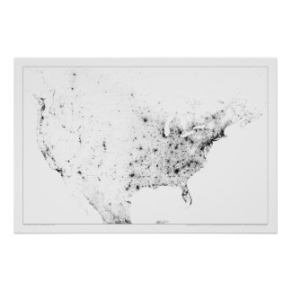 北アメリカの人口調査Dotmap ポスター
