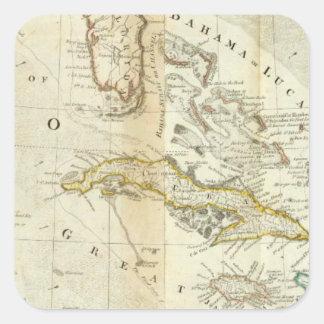 北アメリカの南部の正確な地図 スクエアシール