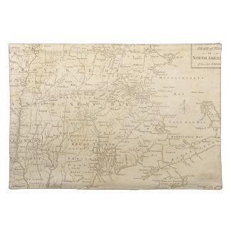 北アメリカの地図1775年-戦争の調査 ランチョンマット