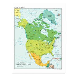 北アメリカの地図 ポストカード