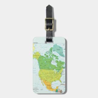 北アメリカの地図 ラゲッジタグ