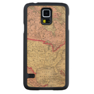 北アメリカの地図 CarvedメープルGalaxy S5スリムケース