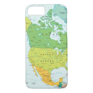北アメリカの地図 iPhone 8/7ケース