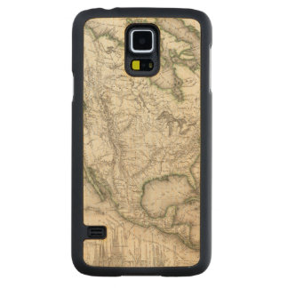 北アメリカの川および山 CarvedメープルGalaxy S5スリムケース