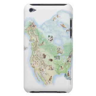 北アメリカの提示の図解入りの、写真付きのな地図 Case-Mate iPod TOUCH ケース