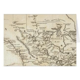 北アメリカの新しい地図 カード