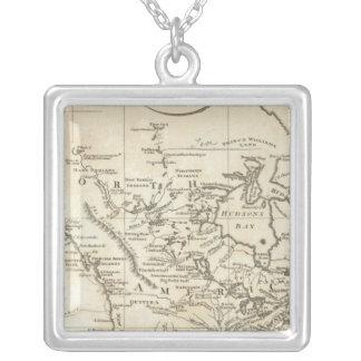 北アメリカの新しい地図 シルバープレートネックレス