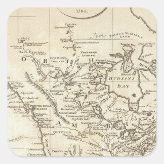 北アメリカの新しい地図 スクエアシール