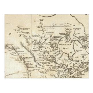 北アメリカの新しい地図 ポストカード