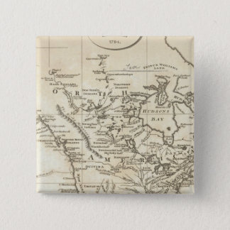 北アメリカの新しい地図 5.1CM 正方形バッジ