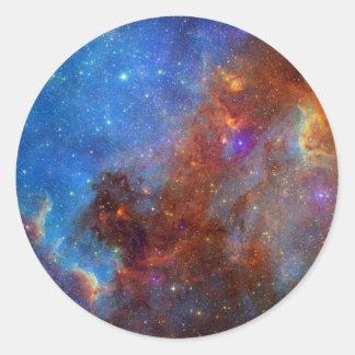 北アメリカの星雲大陸NASA ラウンドシール