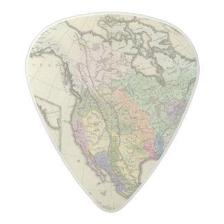 北アメリカの民族誌の地図 アセタール ギターピック