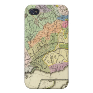 北アメリカの民族誌の地図 iPhone 4 COVER