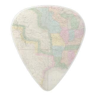 北アメリカの米国の地図 アセタール ギターピック