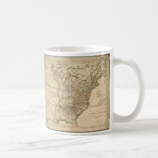 北アメリカの米国の1809地図 コーヒーマグカップ