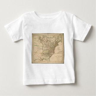 北アメリカの米国の1809地図 ベビーTシャツ