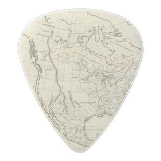 北アメリカの輪郭の地図 アセタール ギターピック