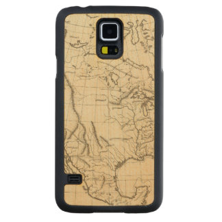 北アメリカの輪郭の地図 CarvedメープルGalaxy S5スリムケース